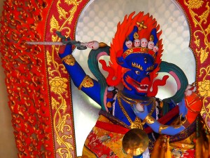 Guardián de Buda Lama temple