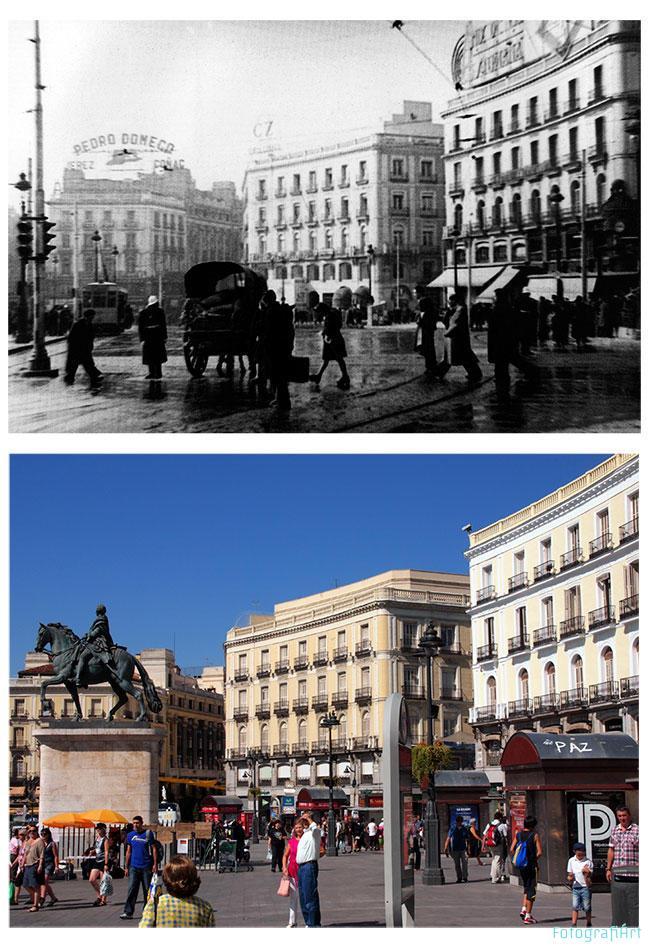 Madrid ayer y hoy fotografi rt for Puerta del sol hoy