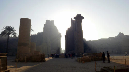Amanece en Karnak