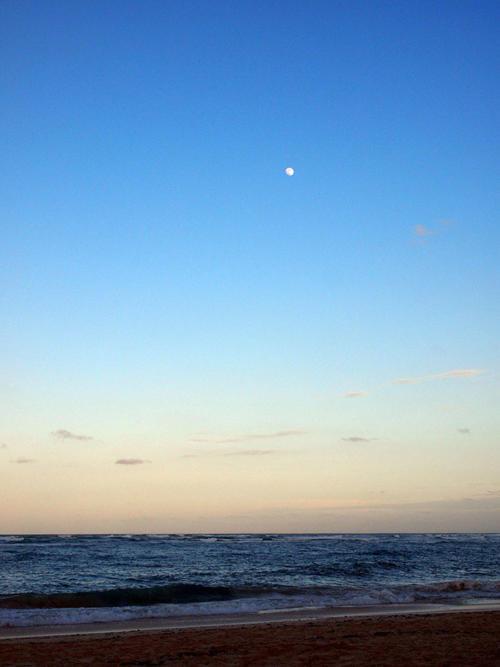 Luna llena sobre el Caribe