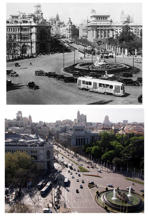 Cibeles_desde_Palacio_Correos_1950