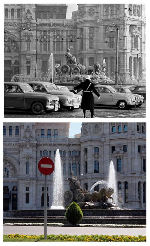 Cibeles_sobre_Correos_1950