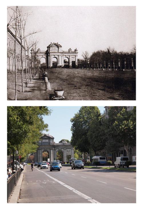 Puerta_Alcalá_desde_Cibeles_1852
